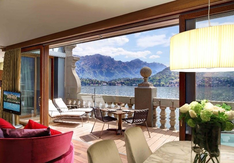 Rooftop Corner suite, Grand hotel Tremezzo