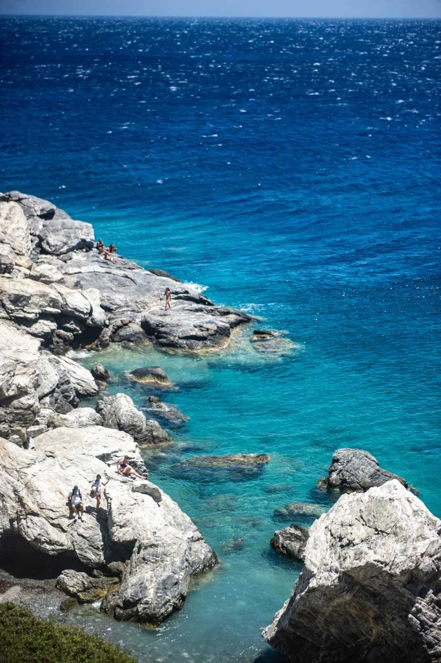 'Big Blue' beach, Chora, Amorgos