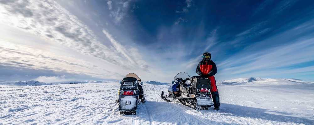 Snowmobile, Swedish Lapland