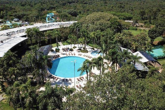 Aerial view of the pool, Vivaz Cataratas Hotel and Resort, Iguacu, Brazil