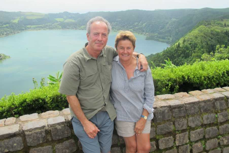 Sue and David in the Azores