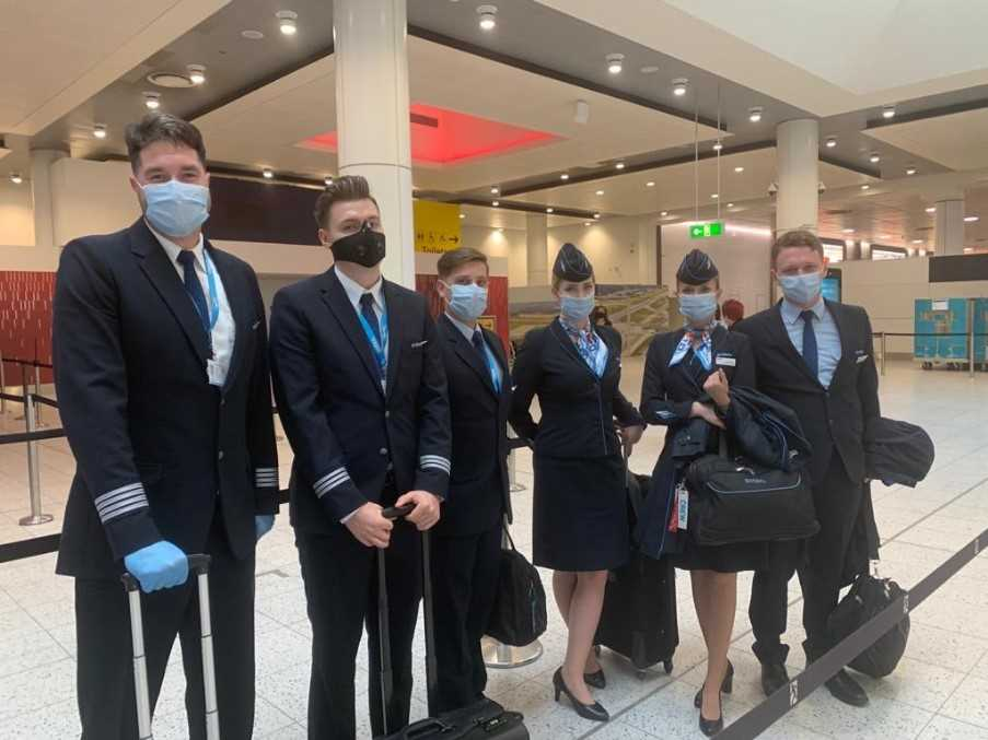 Enter Air crew at London Gatwick