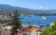 View from Dimitra Boutique Hotel, Poros, Greece