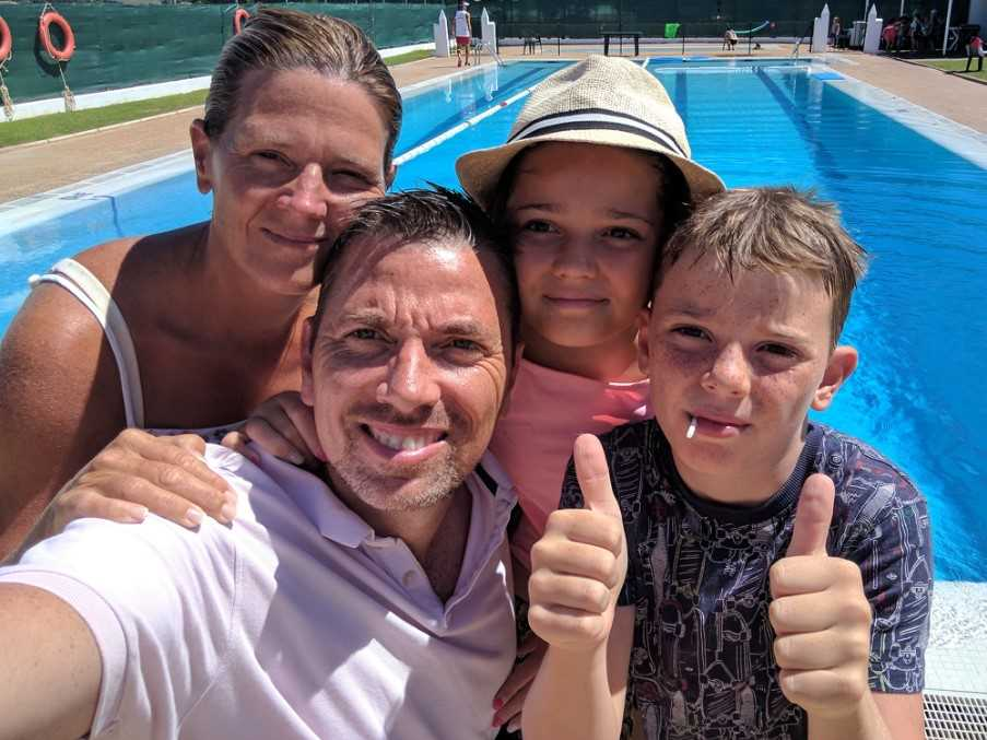 Lloyd and family, The Algarve, Portugal