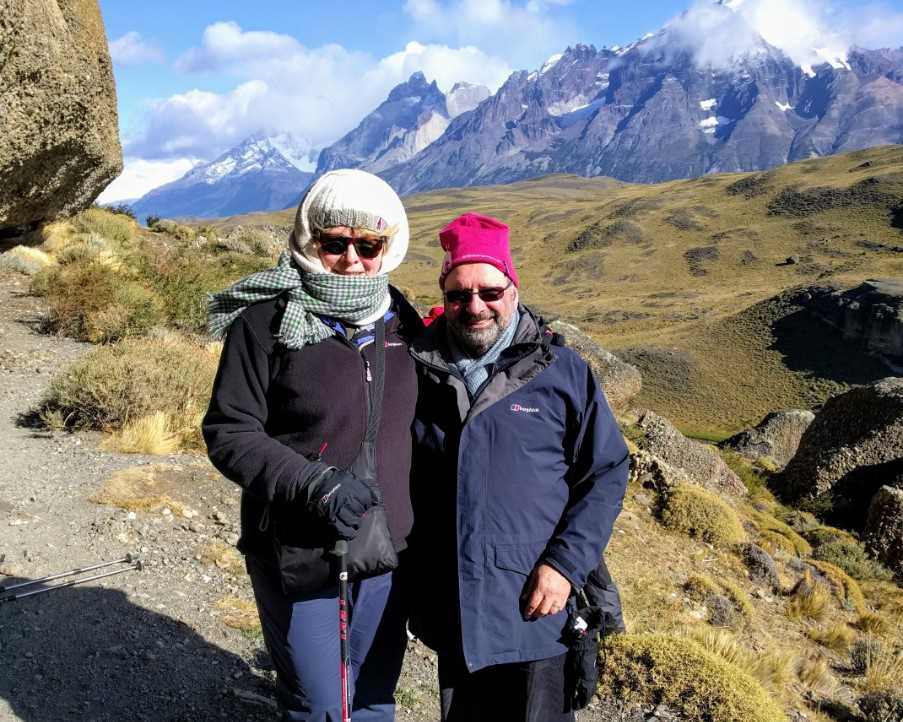 Noel and Sue in Patagonia