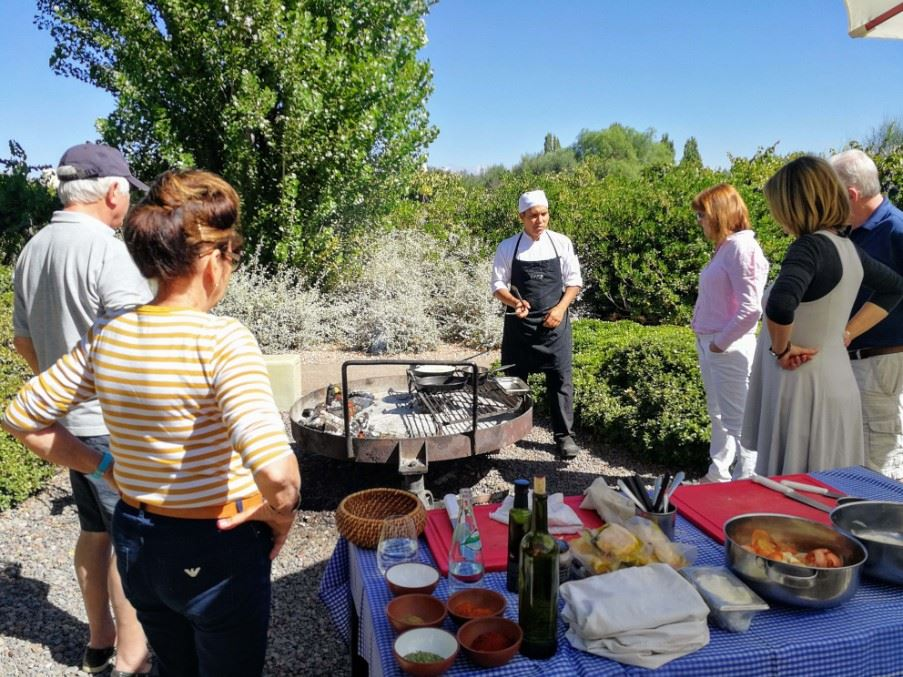 Cookery class at Cavas Wine Lodge