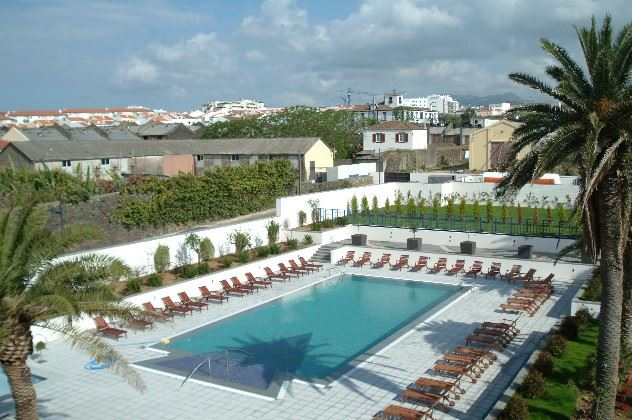 Swimming pool, Azoris Royal Garden Hotel, Sao Miguel, The Azores