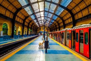 Train station in Athens, Greece
