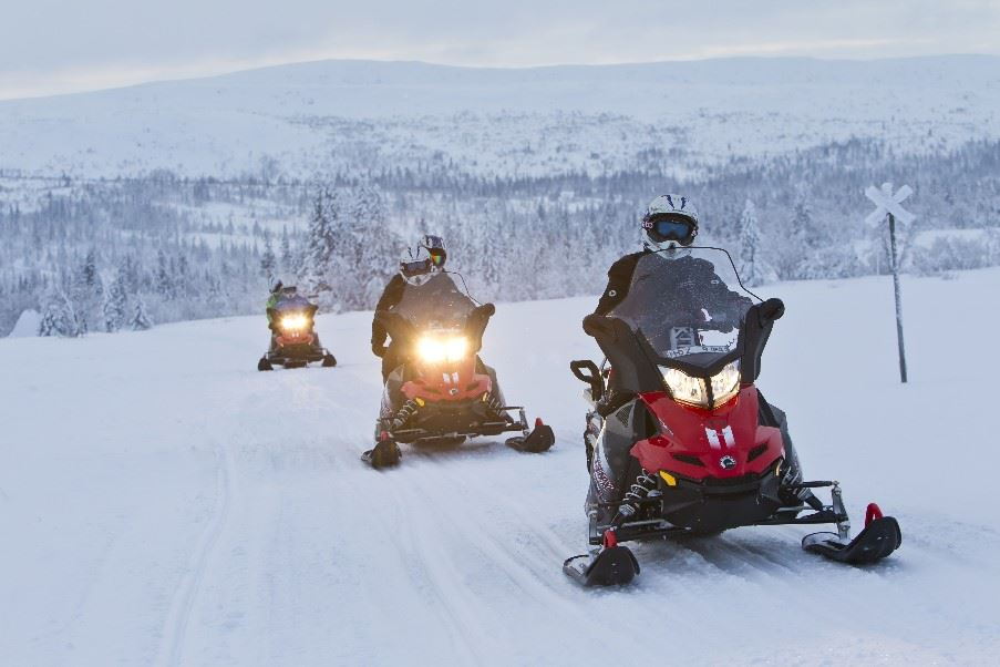 Snowmobile tour, Swedish Lapland
