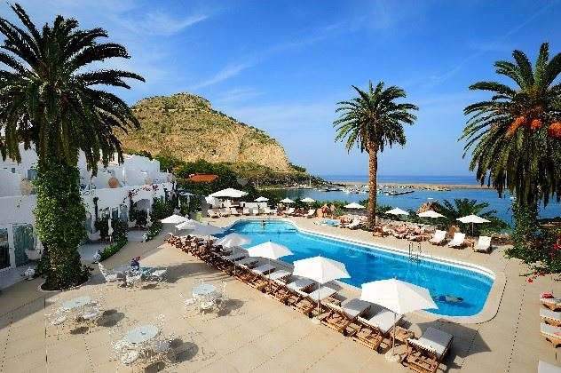Swimming pool, Le Calette Hotel, Cefalu, Western Sicily