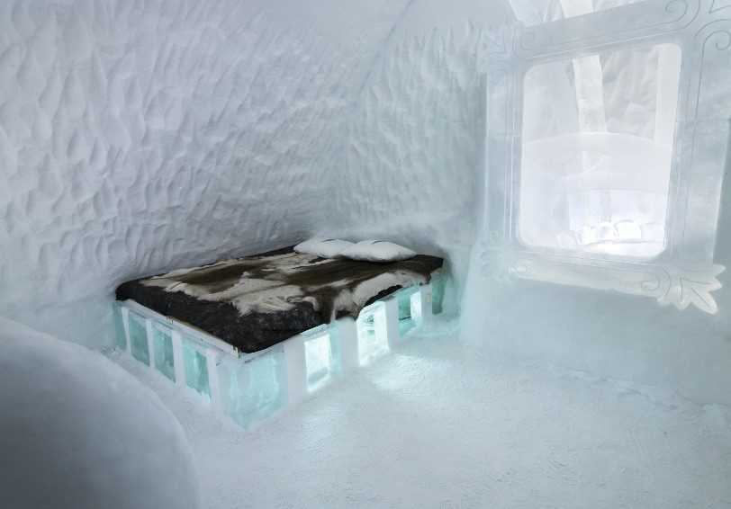 Ice Room, ICEHOTEL, Jukkasjärvi, Swedish Lapland