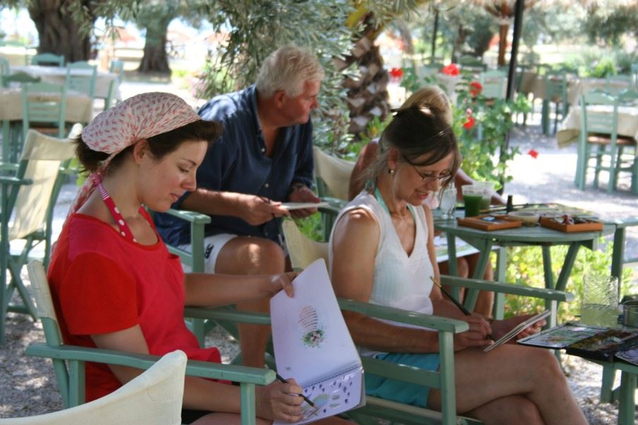 Painting lessons, Crete