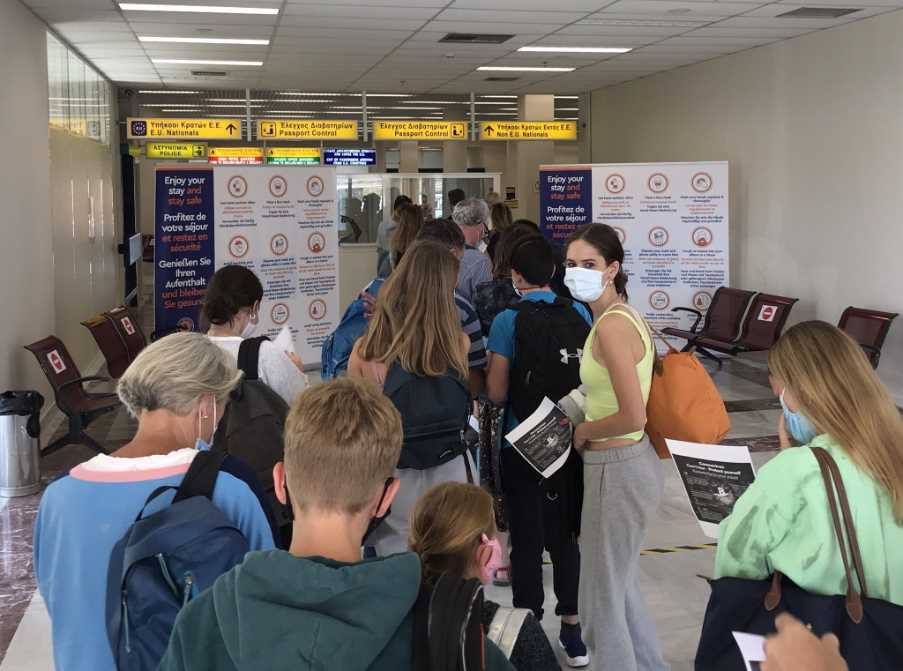 Arrivals at Lemnos Airport - image taken by Mark Hodson 101 Holidays