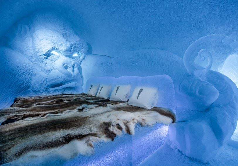 King Kong (Lkhagvadorj Dorjsuren), Art Suite, ICEHOTEL, Jukkasjärvi, Swedish Lapland (Photo - Asaf Kilger)