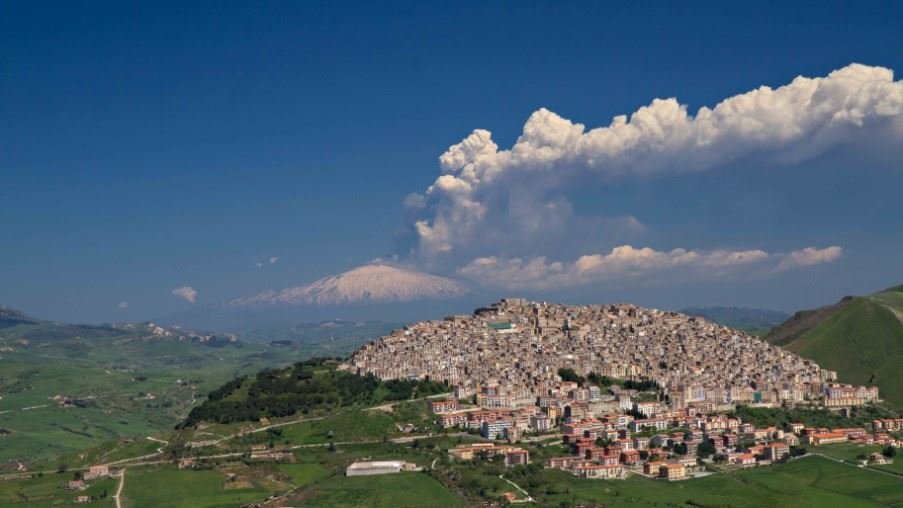 Gangi, near Palermo in the Madonie Mountains, Sicily