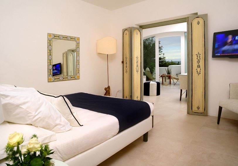 Deluxe room, Le Calette Hotel, Cefalu, Western Sicily
