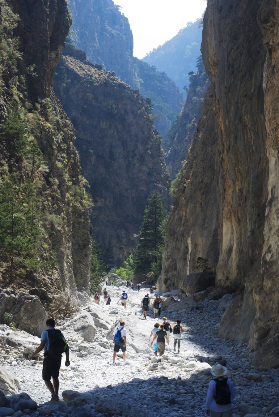 Walkers in Samaria Gorge