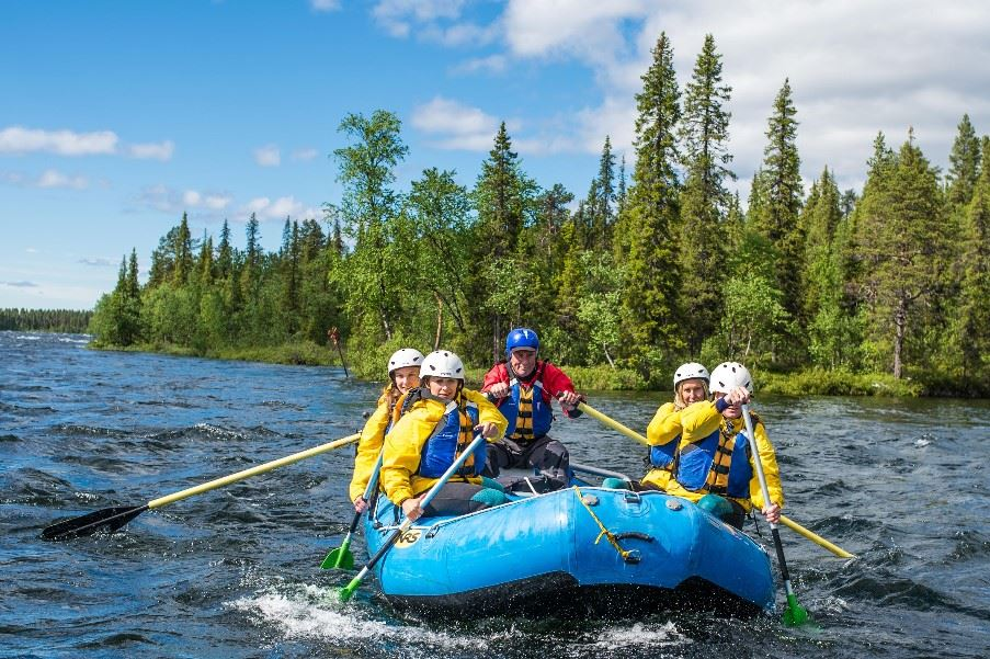 River rafting on the River Torne