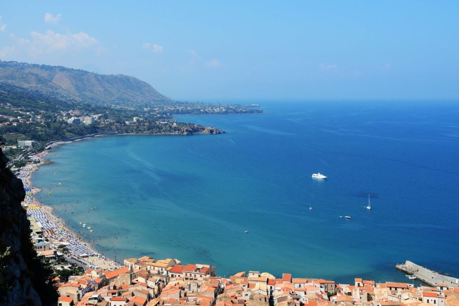 View of Cefalu from Rocca di Cefalu, Sicily