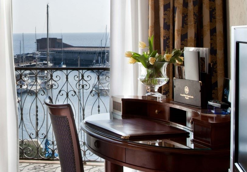 Junior Suite, Grand Hotel Santa Lucia, Naples, Italy