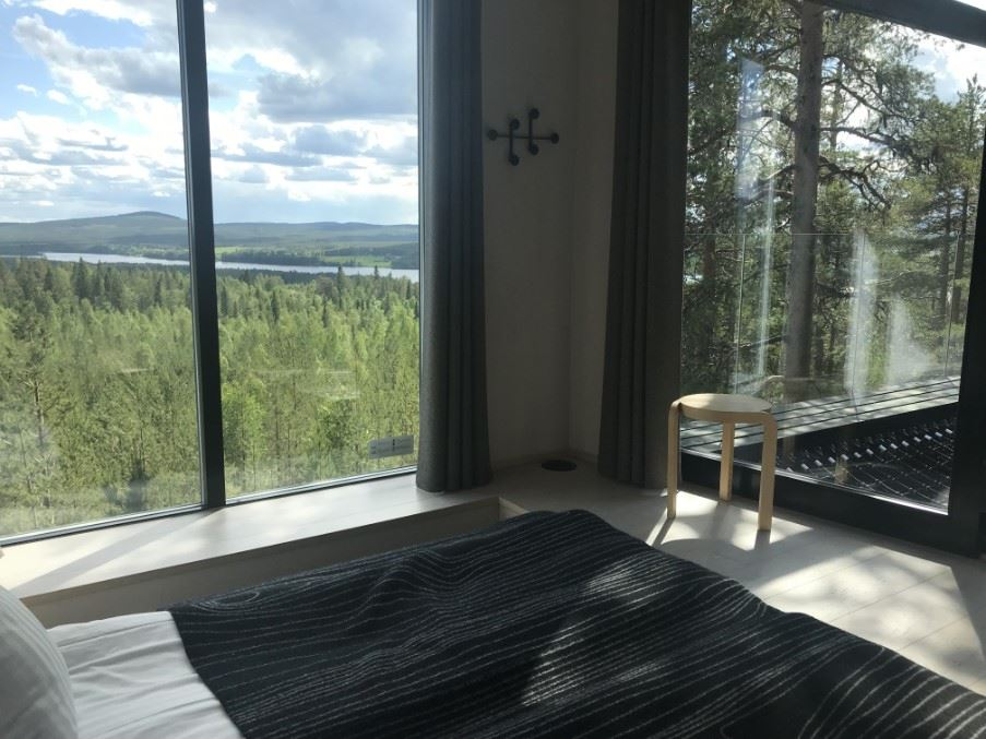 View from the 7th room cabin, Treehotel, Swedish Lapland