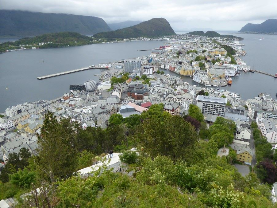 Alesund and surrounding countryside