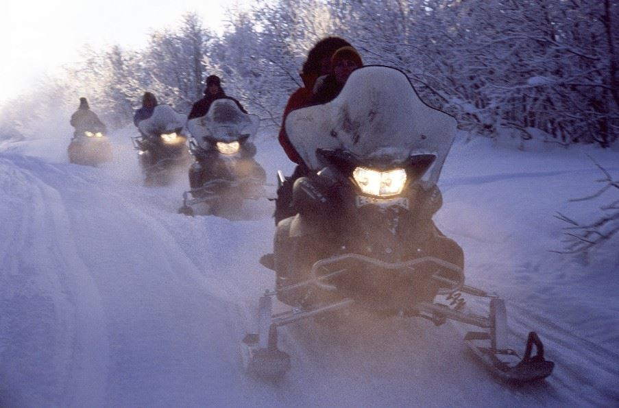 Snowmobiles, Swedish Lapland