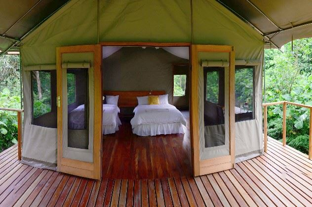 Tent Accommodation, Scalesia Galapagos Lodge, Galapgos Islands