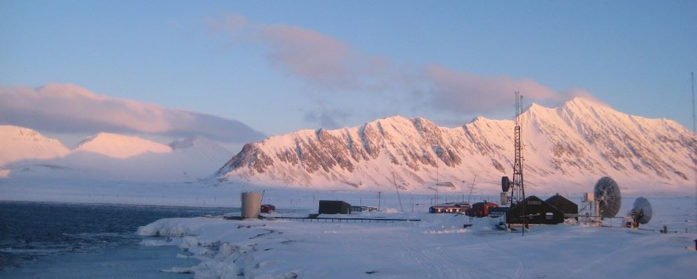 Ice station, Svalbard, Norway