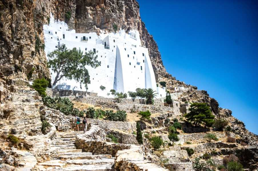 The ancient monastery of Chozoviotissas, Amorgos