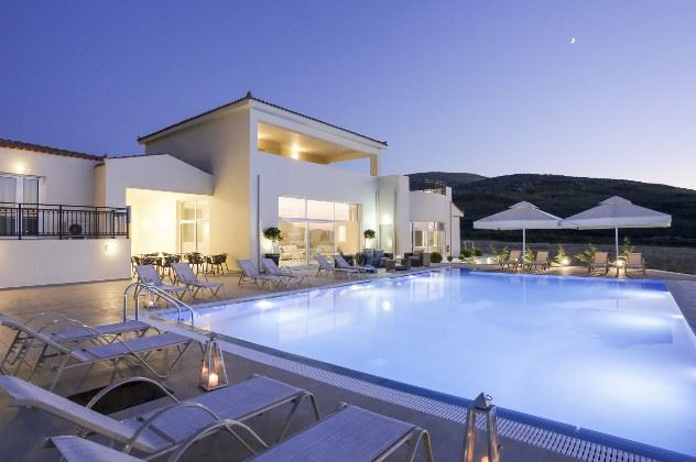 Pool view of Ammos Suites, Plati, Lemnos