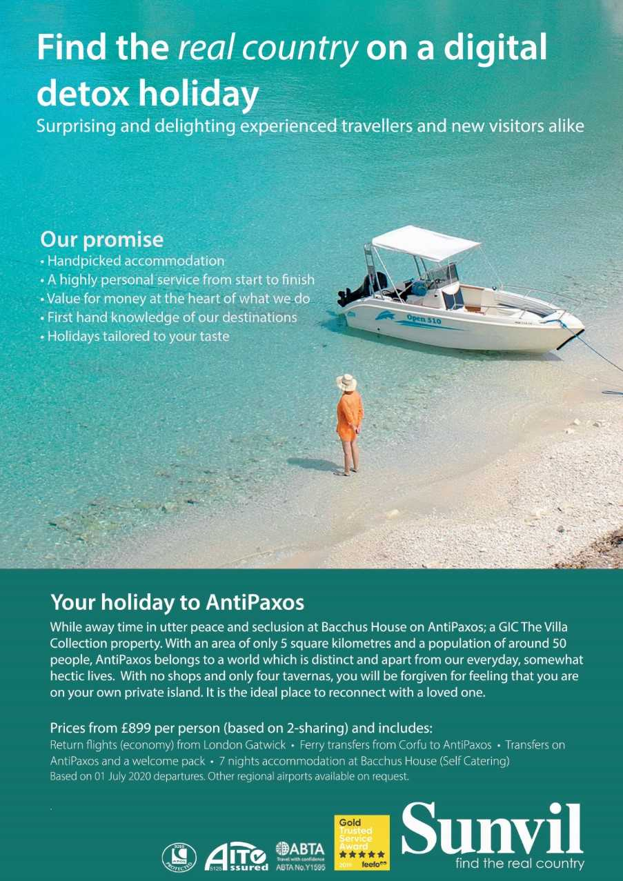 Example: Your digital detox holiday on AntiPaxos, Greece