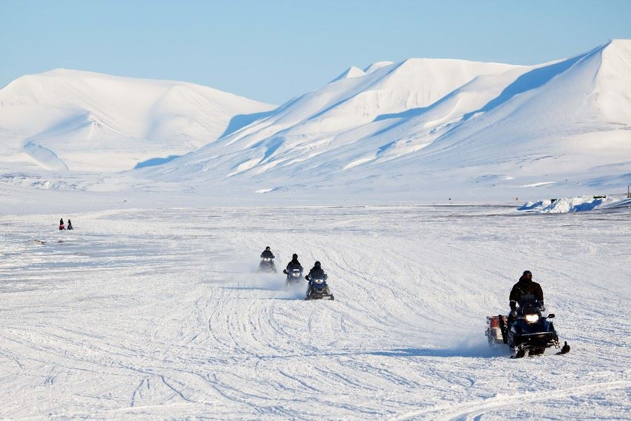 Snowmobile Tour Svalbard, Norway