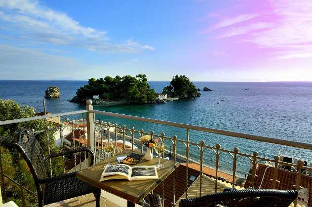 View from Acrothea Hotel, Parga, Greece