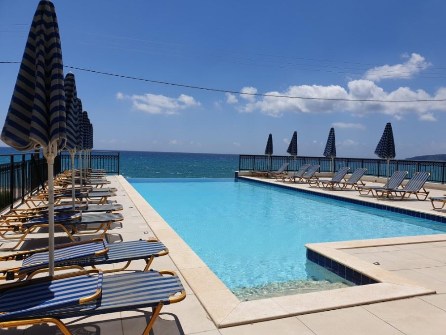 Infinity pool, Lourdas Beach Apartments, South Kefalonia, Greece