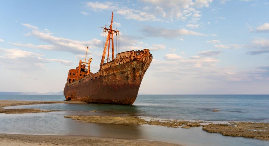 Ship wreck, Valtaki beach