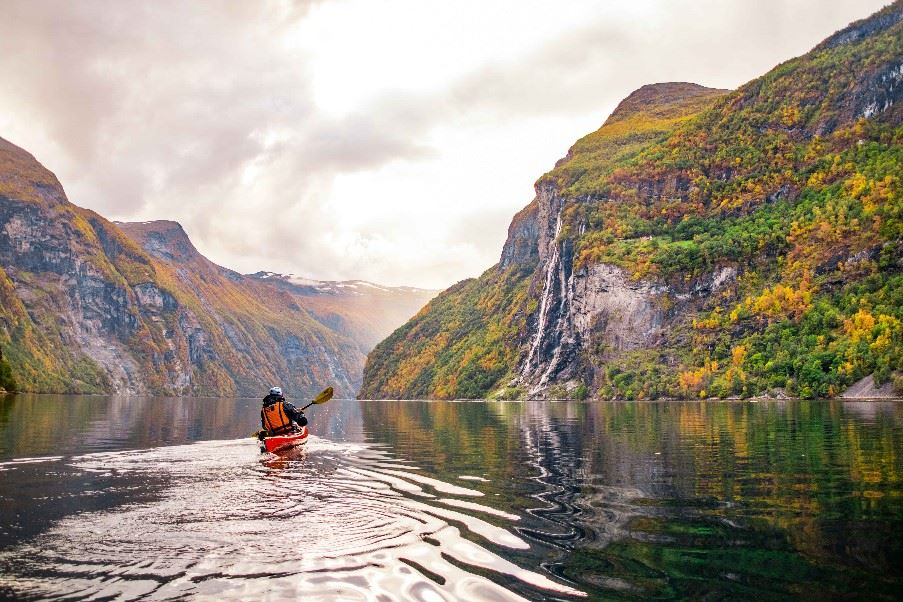 Kayaking Fjords, Norway