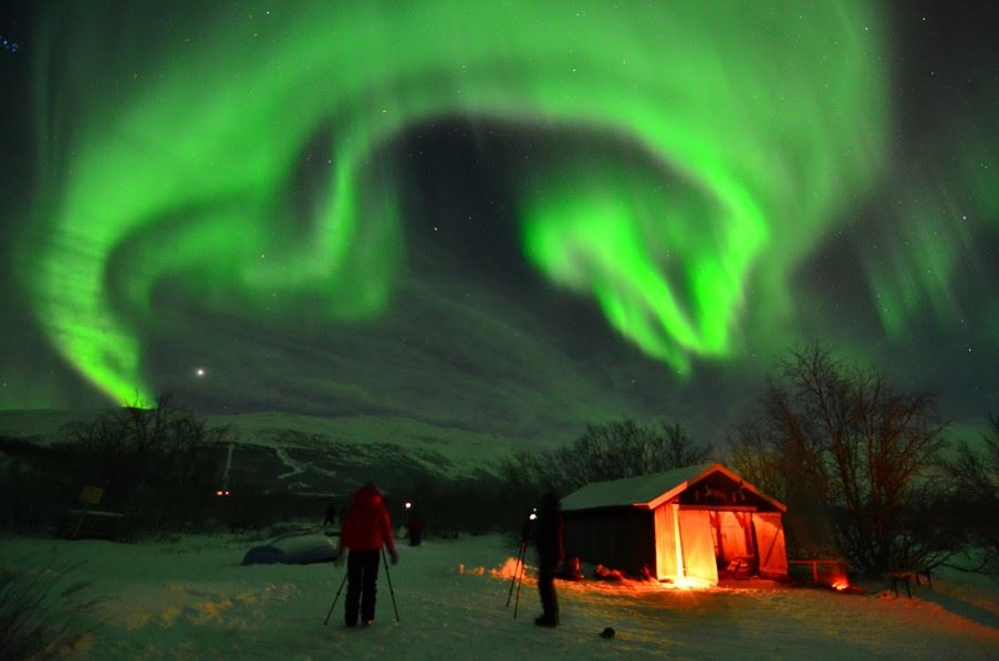 Northern Lights photography tour, Swedish Lapland