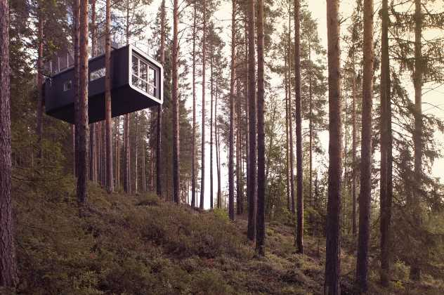 The Cabin exterior, Treehotel, Harads, Northern Sweden