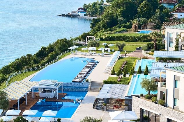 Swimming pool, Cavo Olympo Luxury Hotel, Litochoro, Pieria, Greece