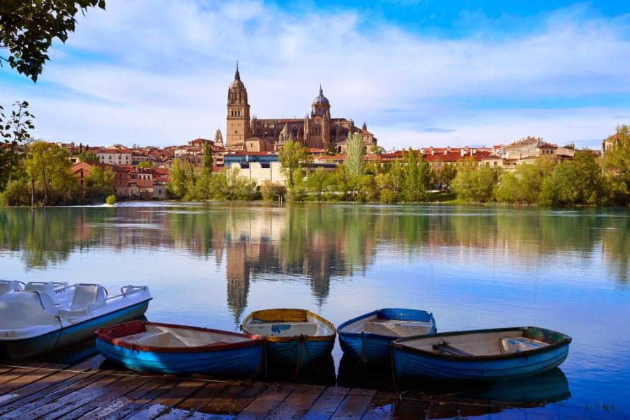 Salamanca skyline and the Tormes River