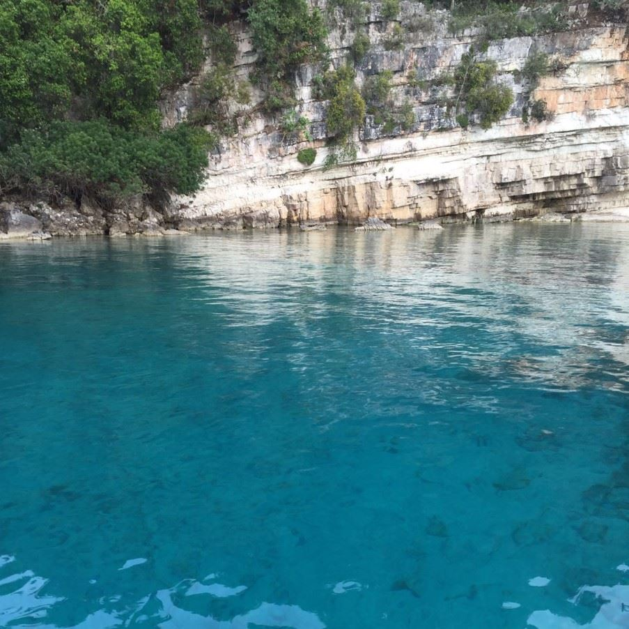 View as you approach Antipaxos