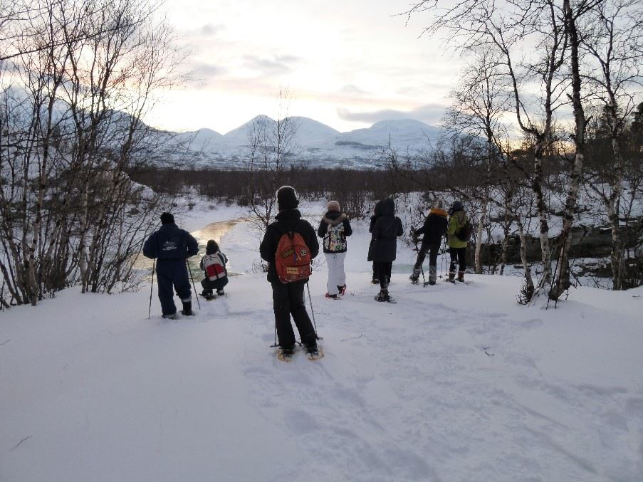 Snow shoe tour, Swedish Lapland