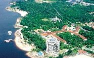 Aerial view, Tropical Manaus Ecoresort, Amazon Brazil