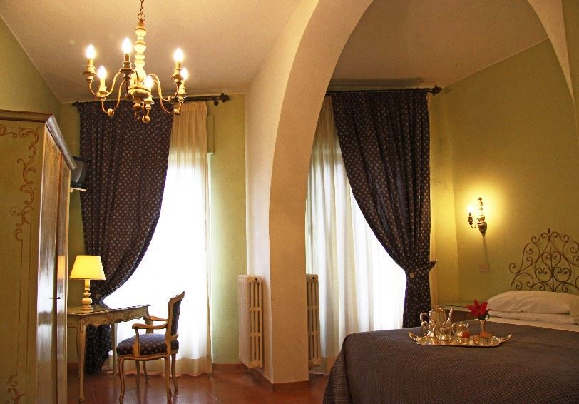 Family Room with panoramic view, La Cisterna Hotel, San Gimignano, Tuscany