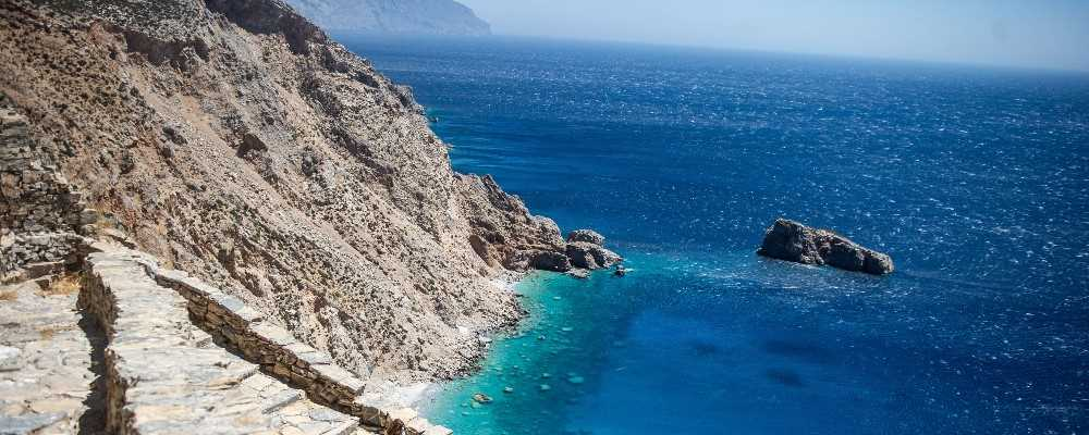 Hiking trail on Amorgos, Cyclades