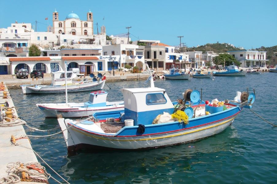 Lipsi harbour, Dodecanese islands, Greece