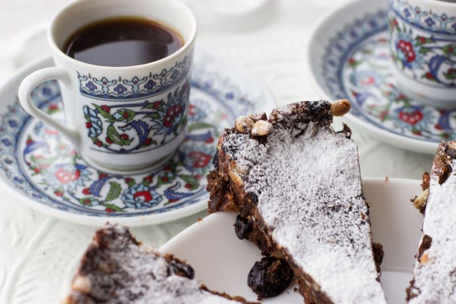 Panforte, traditional Italian dessert