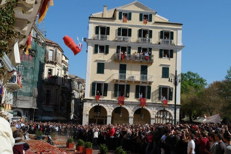 Easter celebrations, Corfu Town, Corfu, Greece