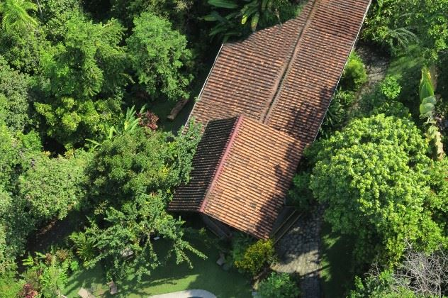Aerial view of the lodge and the pool, Tiskita Jungle Lodge, Punta Banco, Costa Rica
